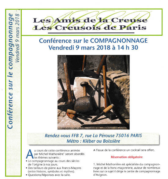 20180309 Paris Conference Compagnonnage